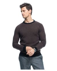 Todd Snyder - Brown Italian Cashmere Herringbone Sweater for Men - Lyst