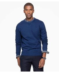 Todd Snyder - Blue Indigo Crew Sweatshirt In Indigo for Men - Lyst