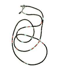 M. Cohen - Mini Antique Bead Necklace In Black - Lyst