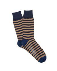 Corgi - Blue Stripe Sock In Navy for Men - Lyst