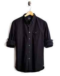 Todd Snyder - Button-down Collar Shirt With Flap Pocket In Black for Men - Lyst