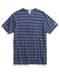 Todd Snyder | Classic Crew T-shirt In Mast Blue Stripe for Men | Lyst
