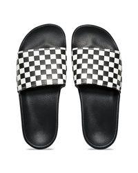 Vans - White Checkerboard Slide-on Sandal for Men - Lyst