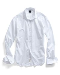 Todd Snyder - Poplin Spread Collar Dress Shirt In White for Men - Lyst