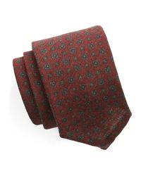 Todd Snyder - Foulard Silk Wool Tie In Red for Men - Lyst