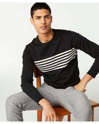 Todd Snyder - Black Engineered Surf Stripe Silk-cotton Sweater for Men - Lyst