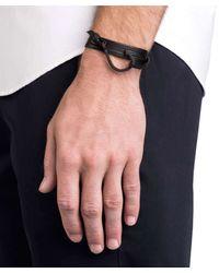 Miansai - Black Hook On Leather Bracelet In Noir for Men - Lyst