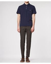 Todd Snyder - Blue Pique Polo In Navy for Men - Lyst