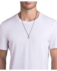 Miansai - Gray Dove Pendant Necklace In Sterling Silver for Men - Lyst