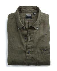 Todd Snyder - Green Solid Linen Shirt In Olive for Men - Lyst