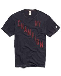 Todd Snyder | Blue Champion Ny Graphic In Navy for Men | Lyst