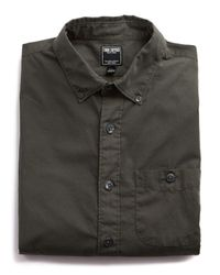 Todd Snyder - Green Garment Dyed Poplin Shirt In Dark Olive for Men - Lyst