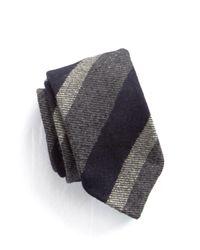 Drake's | Blue Wool Stripe Tie for Men | Lyst