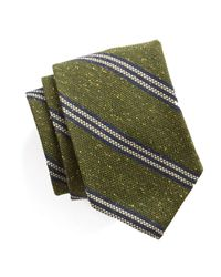 Todd Snyder - Striped Silk Wool Tie In Green for Men - Lyst