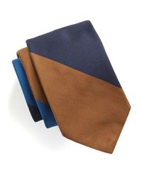 Todd Snyder - Blue Hand Finished Bold Stripe Silk Tie for Men - Lyst