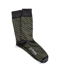 Corgi - Green Polka Dot Socks In Olive for Men - Lyst