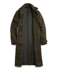 Todd Snyder - Green Double Knit Olive Topcoat for Men - Lyst