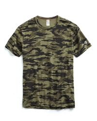 Todd Snyder - Green Camo Tee In Olive for Men - Lyst