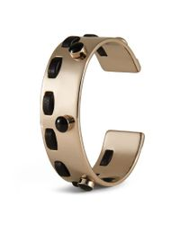Tod's - Metallic Cuff In Metal And Leather - Lyst