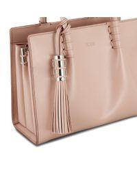 Tod's - Natural Mini Shopping Bag - Lyst