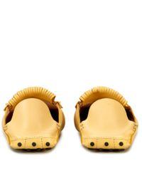 Tod's - Yellow Gommino Mocassins In Leather - Lyst