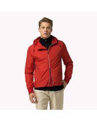 Tommy Hilfiger - Red Regular Fit Hooded Jacket for Men - Lyst