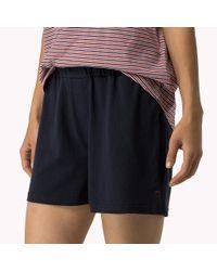 Tommy Hilfiger - Blue Cotton Short Sleeve Pyjama Set - Lyst