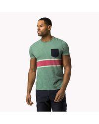 Tommy Hilfiger | Green Bt Cotton Jersey Crew Neck T-shirt for Men | Lyst
