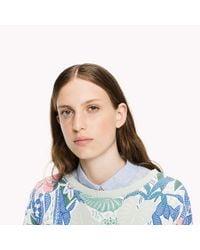 Tommy Hilfiger - Blue Terry Cropped Sweatshirt - Lyst