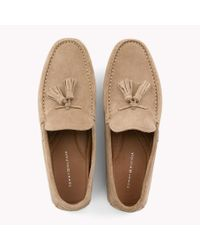 Tommy Hilfiger - Gray Suede Tassel Loafers for Men - Lyst