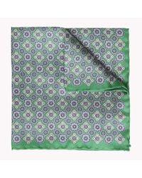 Tommy Hilfiger Green Floral Pocket Square for men