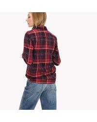 Tommy Hilfiger   Red Tommy Tartan Flannel Shirt   Lyst