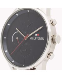 Tommy Hilfiger Brown Smooth Leather Strap Watch for men