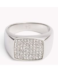 Tommy Hilfiger | Multicolor Crystal Studded Ring for Men | Lyst