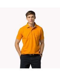 Tommy Hilfiger | Orange Luxury Piqué Regular Fit Polo for Men | Lyst