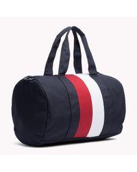 Tommy Hilfiger | Blue Nylon Twill Duffle Bag for Men | Lyst