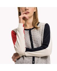 Tommy Hilfiger | White Wool Cashmere Blend Cardigan | Lyst