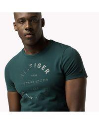 Tommy Hilfiger - Green Regular Fit T-shirt for Men - Lyst