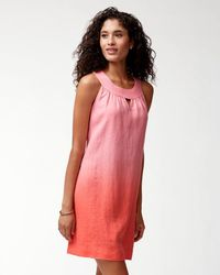 Tommy Bahama - Pink Two Palms Linen Sundress - Lyst