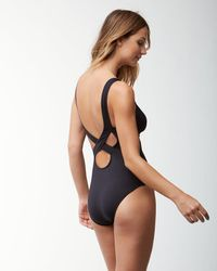 Tommy Bahama - Black Pearl Over-the-shoulder Crossback One-piece Swimsuit - Lyst
