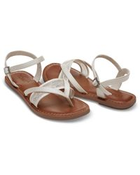 TOMS - White Ivory Lace Grosgrain Women's Lexie Sandals - Lyst