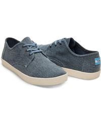 TOMS - Slate Blue Coated Twill Men's Paseo Sneakers for Men - Lyst
