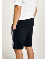 Topman - Blue Navy Side Stripe Jersey Short for Men - Lyst