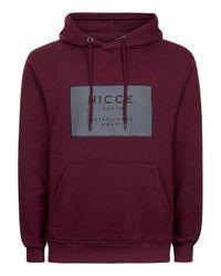 Nicce London | Red Burgundy Logo Hoodie for Men | Lyst
