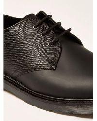 Topman - Black Leather Slater Derby Shoe for Men - Lyst