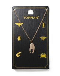 Topman - Metallic Gold Claw Necklace for Men - Lyst