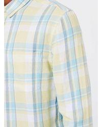 Topman - Blue Summer Yellow Check Casual Shirt for Men - Lyst