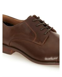 Topman - Brown Tan Pu Toecap Shoes for Men - Lyst