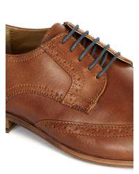 Topman - Brown Tan Leather Brogues for Men - Lyst