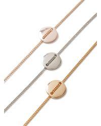 Topman - Gray Metal Disc Bracelet 3 Pack for Men - Lyst